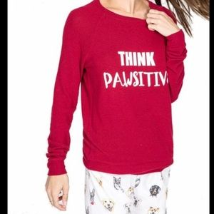 P.J. Salvage Think Pawsitive Long Sleeve Top